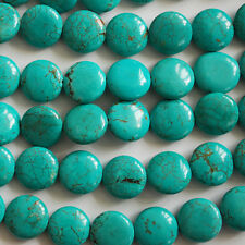 10 x perles disque turquoise chinois 12mm