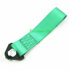 GREEN UNIVERSAL RACING TOW STRAP FOR TOWING JDM/USDM/KDM 10,000 LB RATING GR