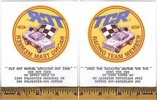 1980 Ideal TCR Racing Team Member IRON ON PATCH Rare Factory Give Away Promo A++