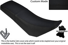 BLACK STITCH CUSTOM FITS DERBI SENDA BAJA 125 DUAL LEATHER SEAT COVER