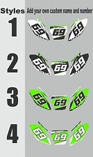 Number Plate Graphic for 2009-2012 Kawasaki KX250f KX 250f KXF Side Panels Decal