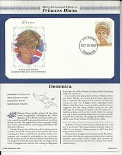 DOMINICA PRINCESS DIANA MEMORIAL First Day Cover (9182)