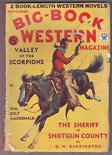 Big Book Western Nov 1934 Pulp Fiction Mag Wm. Colt MacDonald G. W. Barrington