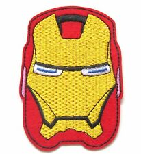 Superhero Iron Sew On Patch- Iron Man Marvel Badge Embroidered Applique Patches