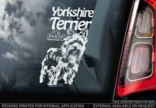 Yorkshire Terrier - Car Window Sticker - Dog Sign -V02