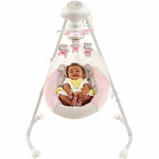 Girls Baby Swing Pink Cradle My Little Snugabear Compact Rocker Motorized Mobile