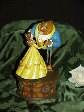 """Beauty and the Beast Music Box Figurine """"Tale As Old As Time"""" Disney Parks Rare"""