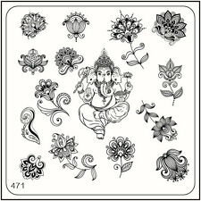 MoYou Nail Fashion Square Stamping Image Plate 471 Ethnic Style