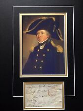 THOMAS MASTERMAN HARDY - BATTLE OF TRAFALGAR - BRILLIANT SIGNED COLOUR DISPLAY