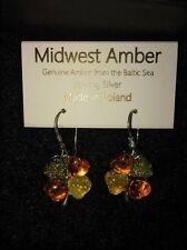Midwest Amber Earings Genuine Amber from Baltic Sea Sterling Silver