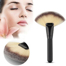 Makeup Fan Shape Pro Cosmetic Brush Blending Highlighter Contour Face Powder
