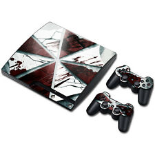 Skin Sticker Vinyl Decal Cover For PS3 PlayStation 3 Slim+2 Controllers TNS459