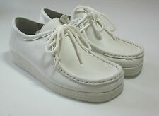 White Leather Professional Lace Up Hospital Nurse Shoes Comfort UK Size 3 #141