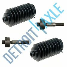 Both New Inner Tie Rod Ends + 2 Rack and Pinion Tie Rod Boots -Power Steering