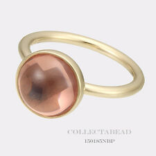 Authentic Pandora 14K Gold Poetic Droplet Pink CZ Ring Size 50 (5)  150185NBP-50