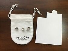 Lot of three authentic Pandora Charm 925 Silver