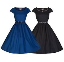 BNWT Lindy Bop Tara Dress Size 18 Black Vintage swing dress