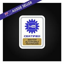 Youtube Certified Master Automobile Technician FUNNY PRANK Sticker Tools Shed GU