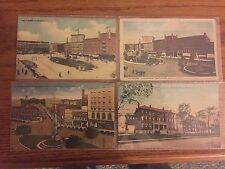 Lot of 4 Vintage Watertown NY Postcards, Nurses Home, Franklin Street, Square