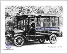 Police 8x10 Glossy Print - Paddy Wagon in the early 1920's  (2 Prints)