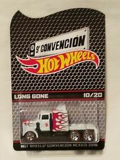 2016 Mexico Hot Wheels 9A Convention White with Flames Long Gone #10/20!