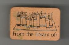 "Co-motion Rubber stamp ""From The Library of"" used hard to find"
