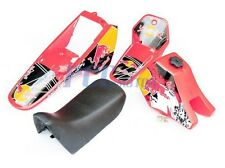 Yamaha PW80 PW COYOTE 80 TANK SEAT PLASTIC + DECALS GRAPHIC KIT RED H DE52+