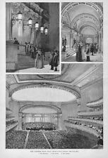 CARNEGIE MUSIC HALL SYMPHONY ORCHESTRA LOBBY ENTRANCE ARCHITECTURE 1891 CARNEGIE