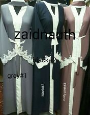Women  open front abaya 2017 model.dress. japanese Neda/linen.sizes 52.54.56.58