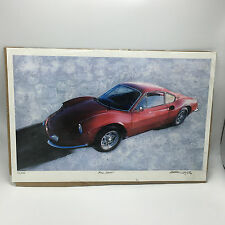 FERRARI DINO 206GT SIGNED & NUMBERED LITHOGRAPH 14/500
