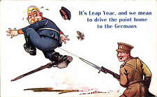 WW1  Patriotic Card # 264 by Bamforth. It's Leap Year...