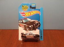 Hot Wheels Dodge Charger Drift #48 HW Rescue 2014 Black Police 50 Cent Comb Ship