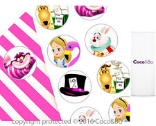 Coco&Bo 10 x Mad Hatter Party Stickers Alice Wonderland Invite Favour Decoration