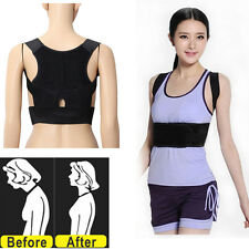 Adjustable Back Posture Corrector Support Sport Shoulder Lumbar Vest Brace Belt