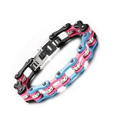 Pride Shack -Transgender Pride Stainless Steel Bracelet Bike Gear Chain Wristlet