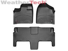WeatherTech® FloorLiner - Dodge Grand Caravan 2nd Row w/ Bucket -2011-2015-Black