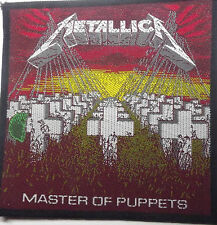 METALLICA Master Of Puppets Genuine Vintage 80`s/90`s Woven Sew On Patch