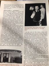 52607 ephemera 1990 Cumbria Article Roundhouse Theatre Shareon Shaw Steve Hall