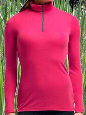 Icebreaker Merino Everyday Womens XL 1/2 Zip Base Layer Ski Top Sweater NWT