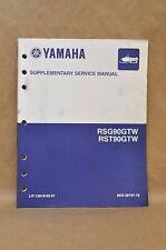 2009 Yamaha RSG90GTW RST90GTW Snowmobile Supplementary Service Shop Manual