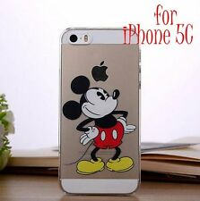 for iPhone 5C - MICKEY MOUSE Transparent Clear Hard PC Protector Skin Case Cover