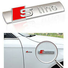 New S Line Sports Line Sticker Red 3D Chrome Badge Logo Sticker Car & Bike