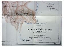1909 Brooke - FATAL JOURNEY - Western Sze-Chuan - CHINA - Color Route Map - 12