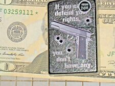 New ZIPPO USA LIGHTER If You Can't Defend Your Rights You Don't Have Any NRA gun