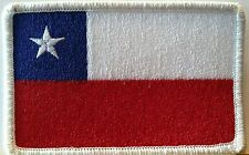 CHILE Flag Patch With VELCRO® Brand Fastener Tactical Military Police Emblem #22