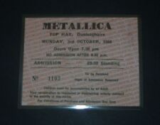 Metallica-Top Hat,Dunlaoghaire,Dublin,Ireland 3rd Oct 1988, Repro Concert Ticket