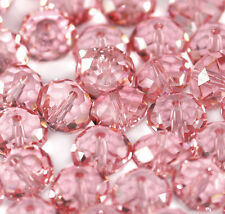 10x Swarovski Crystal Briolette Bead 5040 Light Rose Rondelle 8mm GREAT VALUE!