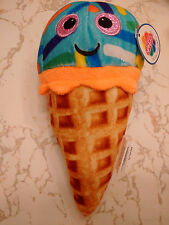WAFFLE CONE ICE CREAM BLUEBERRY W/ COLORFUL SPRINKLES 8 INCHES SMILEY FACE DIET