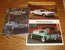 Original 1975 1976 1977 Plymouth Gran Fury Sales Brochure Lot of 3 75 76 77