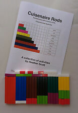 Cuisenaire Rods Book 1 with a new set of 74 plastic Cuisenaire Rods